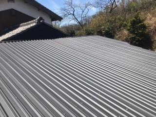 伊賀市 波型スレート屋根 施工後