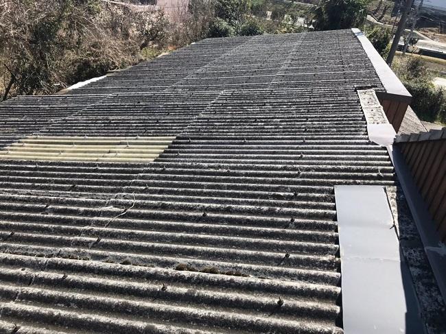 伊賀市 波型スレート屋根 施工前